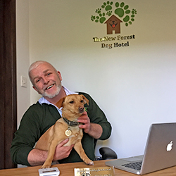 A warm welcome reception at the New Forest Dog Hotel Hampshire home dog boarding